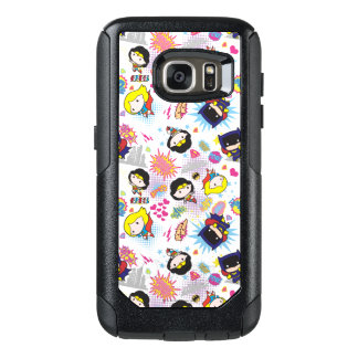 Chibi Superheldin-Muster OtterBox Samsung Galaxy S7 Hülle