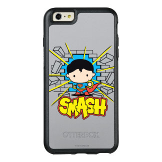 Chibi Supermann, der durch Backsteinmauer OtterBox iPhone 6/6s Plus Hülle