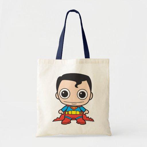 Chibi Supermann Leinentaschen