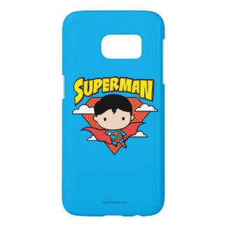 Chibi Supermann-Tupfen-Schild und Name