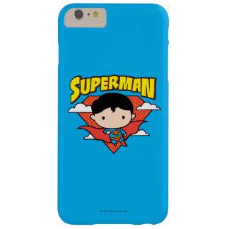 Chibi Supermann-Tupfen-Schild und Name Barely There iPhone 6 Plus Hülle