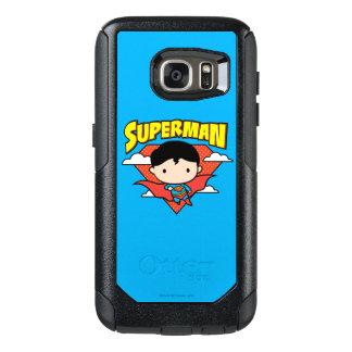 Chibi Supermann-Tupfen-Schild und Name OtterBox Samsung Galaxy S7 Hülle