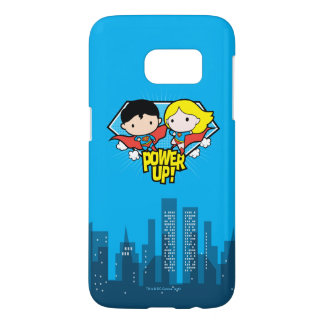 Chibi Supermann u. Chibi Supergirl Power oben!