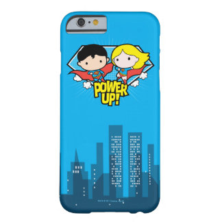 Chibi Supermann u. Chibi Supergirl Power oben! Barely There iPhone 6 Hülle