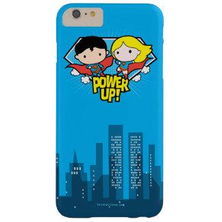 Chibi Supermann u. Chibi Supergirl Power oben! Barely There iPhone 6 Plus Hülle
