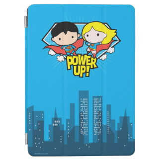 Chibi Supermann u. Chibi Supergirl Power oben! iPad Air Hülle