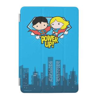 Chibi Supermann u. Chibi Supergirl Power oben! iPad Mini Cover