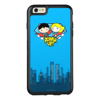 Chibi Supermann u. Chibi Supergirl Power oben! OtterBox iPhone 6/6s Plus Hülle