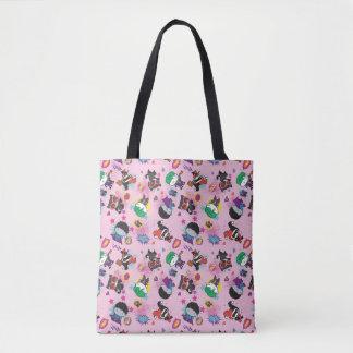 Chibi Superschuft-Aktions-Muster Tasche
