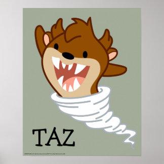 Chibi Tornado TAZ™ Poster