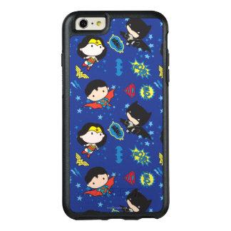 Chibi Wunder-Frau, Supermann und Batman-Muster OtterBox iPhone 6/6s Plus Hülle