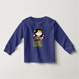 Chibi Wunder-Frauen-Fliegen mit Lasso Kleinkind T-shirt