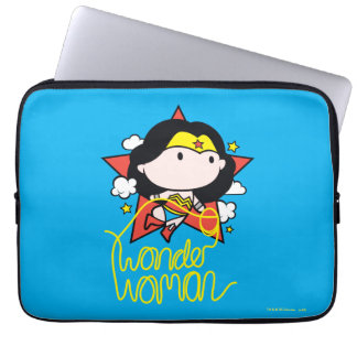 Chibi Wunder-Frauen-Fliegen mit Lasso Laptopschutzhülle