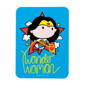 Chibi Wunder-Frauen-Fliegen mit Lasso Magnet