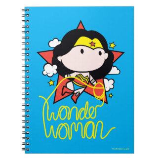 Chibi Wunder-Frauen-Fliegen mit Lasso Notizblock