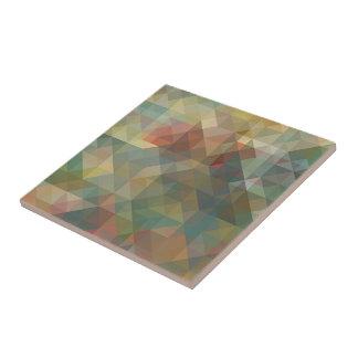 Chic-abstraktes Retro Dreieck-Mosaik-Muster Fliese