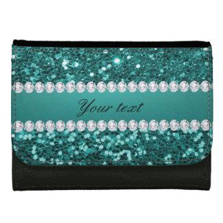Chic-aquamariner Imitat-Glitter und Diamanten