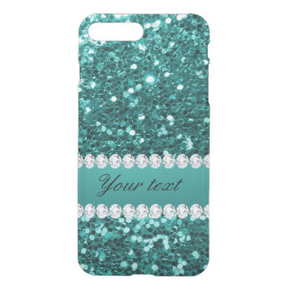 Chic-aquamariner Imitat-Glitter und Diamanten iPhone 8 Plus/7 Plus Hülle