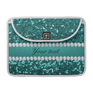 Chic-aquamariner Imitat-Glitter und Diamanten Sleeve Für MacBooks