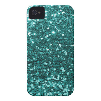 Chic-aquamariner Imitat-Glitzer iPhone 4 Case-Mate Hülle