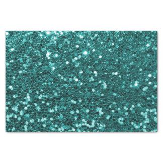 Chic-aquamariner Imitat-Glitzer Seidenpapier