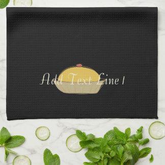 Chic-Backen-Kuchen-personalisiertes schwarzes Tuch