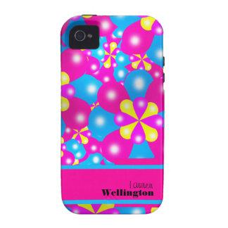 Chic-Ballon-Blüten Iphone 4/4S Case-Mate-Fall