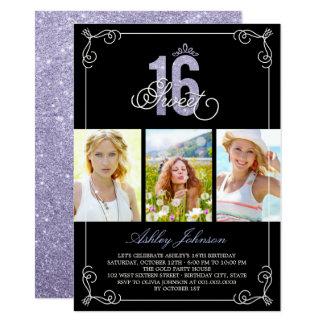 Chic blühen bezauberndes Foto-Geburtstags-Party 11,4 X 15,9 Cm Einladungskarte