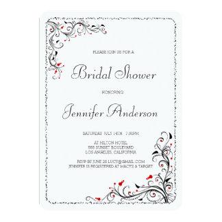 Chic-BlumenWirbels-Brautparty-Verlobungs-Party 12,7 X 17,8 Cm Einladungskarte