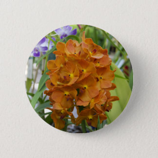 Chic-Bündel des orange Orchideen-Fotos Runder Button 5,1 Cm