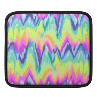 Chic-buntes abstraktes Zickzack Neonmuster Sleeve Für iPads