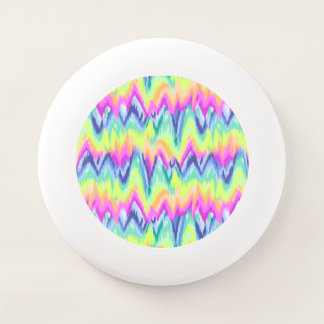Chic-buntes abstraktes Zickzack Neonmuster Wham-O Frisbee