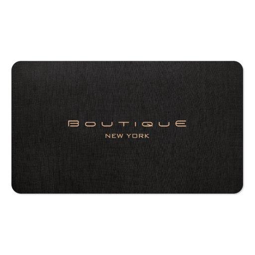 Chic-Butike-Imitat-schwarzes berufliches Visitenkarten Vorlagen