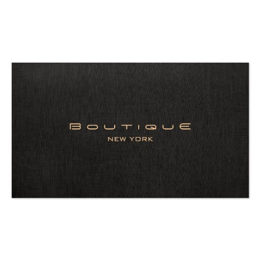 Chic-Butike-Imitat-schwarzes berufliches Visitenkartenvorlage