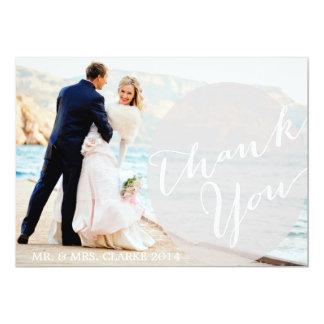 Chic-danken graue Foto-Hochzeit Ihnen zu kardieren 12,7 X 17,8 Cm Einladungskarte