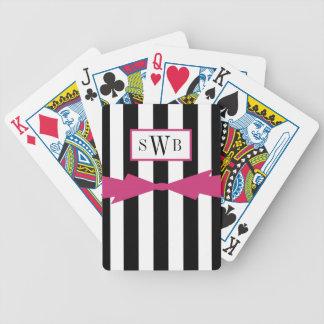 CHIC, DAS CARDS_BLACK/WHITE STRIPES/PINK SPIELT BICYCLE SPIELKARTEN