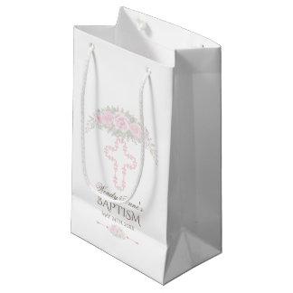 Chic erröten Rosen-Garten-Blumenmädchen-Taufe Kleine Geschenktüte