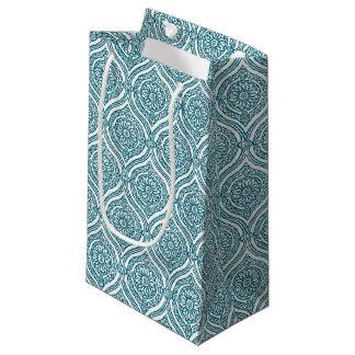 Chic ethnisches Ogee Muster in aquamarinem auf Kleine Geschenktüte