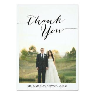 Chic-Foto-Hochzeit danken Ihnen Karten 12,7 X 17,8 Cm Einladungskarte