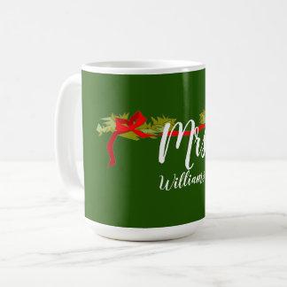 CHIC-FRAU CHRISTMAS MUG WITH NAME KAFFEETASSE