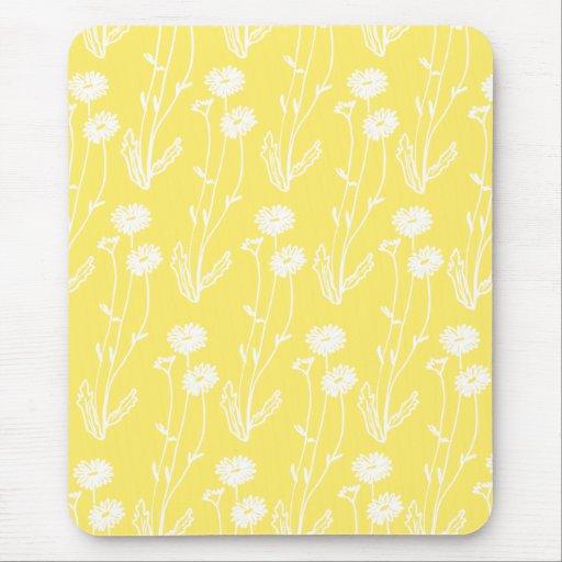 Chic-gelbe Wildblumen Mousepad