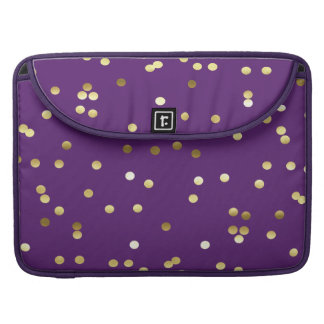 Chic-GoldfolieConfetti lila MacBook Pro Sleeve