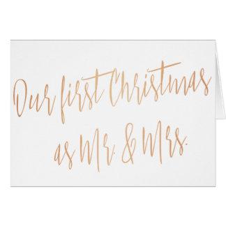 """Chic-GoldRose """"unser erstes Weihnachten als Herr Karte"""