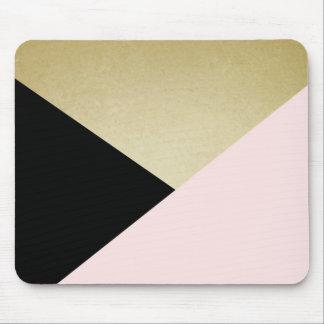 Chic-Goldschwarz-Rosa-abstrakte Mousepad