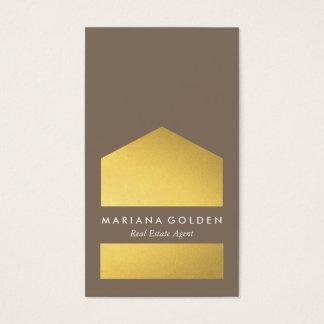 Chic-grafisches Goldwirkliche Visitenkarte