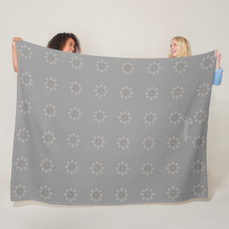 Chic-graue Verzierungs-Blumen-Muster-Decke Fleecedecke