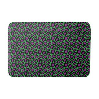 Chic-grüne u. lila Leopard-Druck-Bad-Matte Badematte