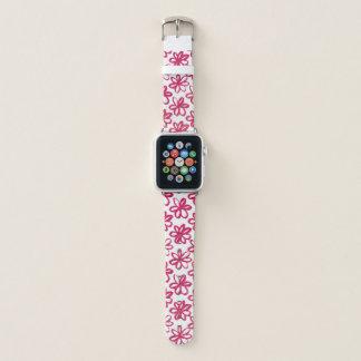 Chic hoch entwickelte ROSA gezeichnete Blumen Apple Watch Armband