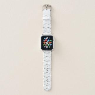 Chic-Imitat-metallische Punkte auf Weiß Apple Watch Armband