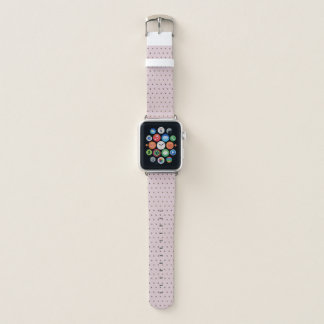 Chic-Imitat-metallische Punkte erröten an Rosa Apple Watch Armband